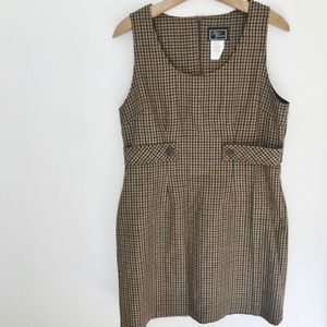 Vintage Overall Gingham Dress